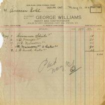 Image of Statement, George Williams, 1912