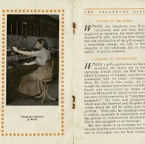 Image of Telephone Operator at Work; Nature of the Work, pp.6-7