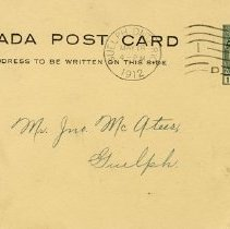 Image of Canada Post Card to Mr. Jno. McAteer, 1912