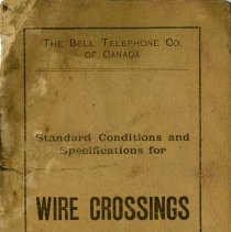 "Image of Bell's ""Standard Conditions and Specifications for Wire Crossings,"" 1910"