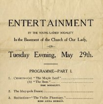 Image of Entertainment Program, Young Ladies' Sodality