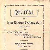 Image of Recital Program page 1