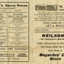 Image of Advertising Leaflet for Grifin's Opera House
