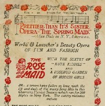 Image of Advertisement, Royal Opera House, April 1, 1913