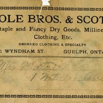 Image of Shipping Label, Cole Bros. & Scott, c. 1925