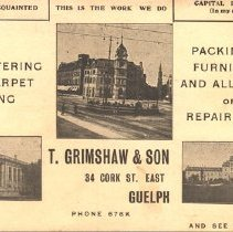 Image of Postcard Ad for Grimshaw & son