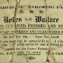 Image of Boles and Wallace Business Card