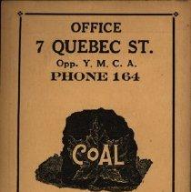 Image of Back of Needle Case, Kloepfer Coal Company