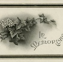 Image of In Memoriam Card for John D. McWilliams, 1917