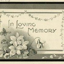 Image of In Memoriam Card, Christena Margaret McPherson, 1910