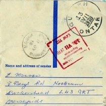 Image of Name & Address of Sender, July 13, 1978