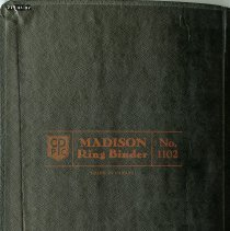 Image of Inside Front Cover of Binder