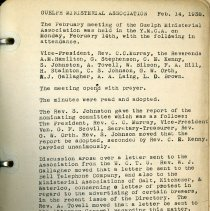 Image of Guelph Ministerial Association Minutes, Feb.14, 1938, p.2