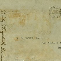 Image of .1 Envelope addressed to F.O. Marsh, Aug. 24, 1909