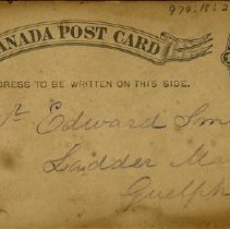 Image of Canada Post Card to Mr. Edward Smith