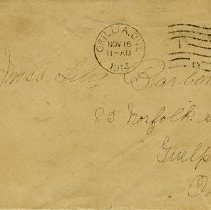 Image of .3 Envelope, dated November 16, 1914