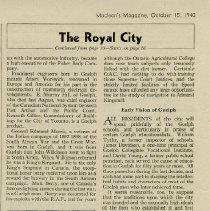 Image of .4 - The Royal City  - Early Vision of Guelph
