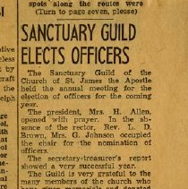 Image of Clipping: Miss N. Gethin Elected Secretary of Sanctuary Guild
