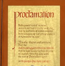 Image of Proclamation, Signed April 23, 1977