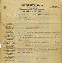 Image of Price List for Oswald Lever Co., 1908