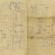 Image of Sketch of Factory Floor Plan, on reverse side, 1913