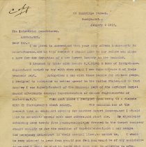 Image of C.H. Gethin Letter to The Industrial Commissioner, London, Ont. 1913