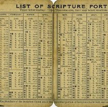 Image of List of Scripture Readings for each day of the year