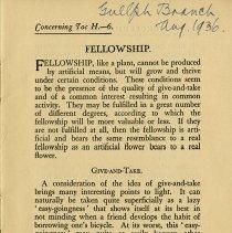 Image of Fellowship, Give-and-Take, p.1