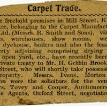 Image of Notice of Sale of Carpet Manufacturing Co. To H. Gethin Brookes