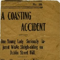 Image of Newspaper Clipping: Miss N. Gethin Injured in Sleigh Accident