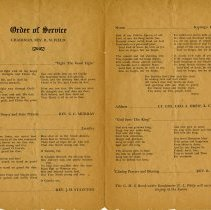 Image of Order of Service, June 11, 1939