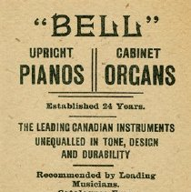 Image of W. Bell & Co. Advertising Card, c.1888
