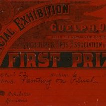 Image of Provincial Exhibition, First Prize Ticket for Painting, 1886