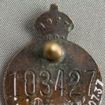 Image of Canadian Legion Button - Back