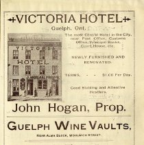 Image of Victoria Hotel; Guelph Wine Vaults, p.11