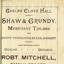 Image of Shaw & Grundy; Robt. Mitchell, Grocer, p.23