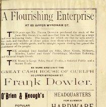Image of Frank Dowler; John M. Bond & Co.; O'Brien & Keough's Art Furniture, p.27