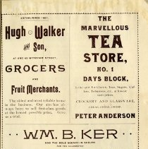 Image of Hugh Walker & Son, Grocers; The Marvellous Tea Store, p.31