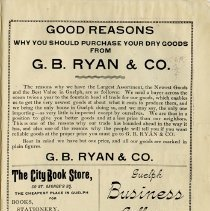 Image of G.B. Ryan & Co.; City Book Store; Guelph Business College, p.35