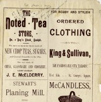 Image of Advertisements, inside back cover