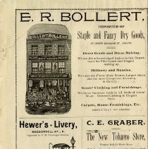 Image of E.R. Bollert; Hewer's Livery; C.E. Graber, p.2