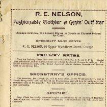 Image of R.E. Nelson; Wm. Read, Teamster; O.A.C., p.4