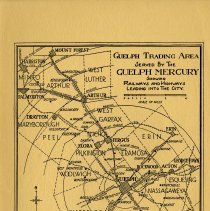Image of Map of Gueph Trading Area Served by The Guelph Mercury