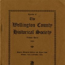 Image of Records of The Wellington County Historical Society, Vol.3, 1934