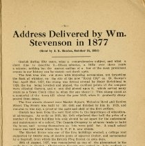 Image of Address Delivered by Wm. Stevenson in 1877, p.5