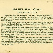 Image of Brief History of Guelph, page 1