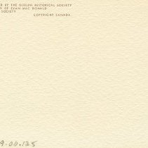 Image of Publication Details on back of note-card