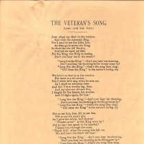 Image of Veteran's Song lyrics