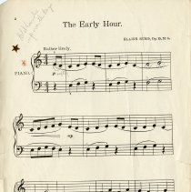 "Image of Music for ""The Early Hour,"" page 2"