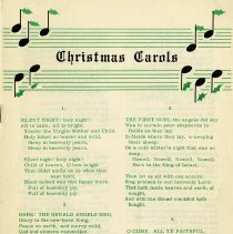 Image of Christmas Carols Booklet